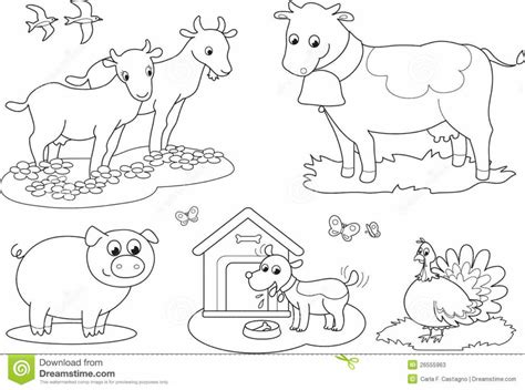 coloring pages of animals on a farm farm yard colouring