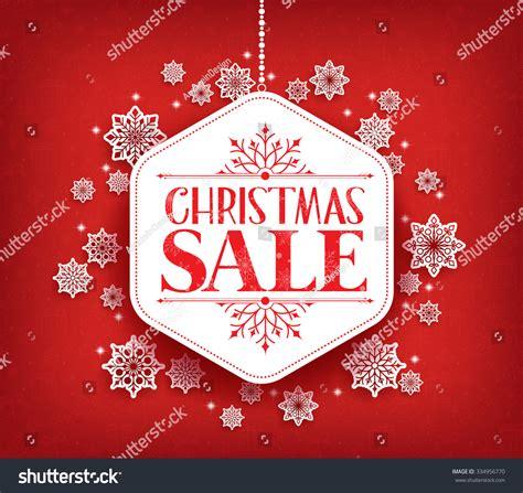 merry christmas sale winter snow flakes stock vector