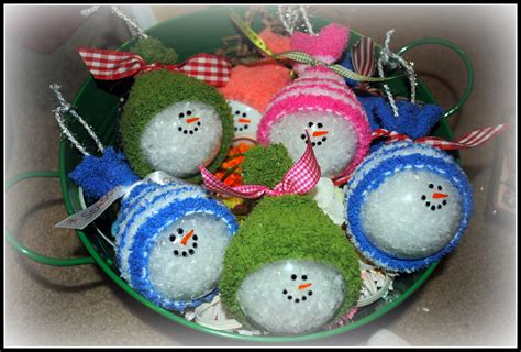 search results for homemade snowman christmas ornaments