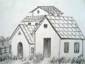 easy houses to draw art by prem com easy house landscape drawings