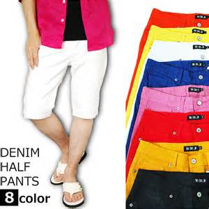 colored denim shorts lohas rakuten global market half
