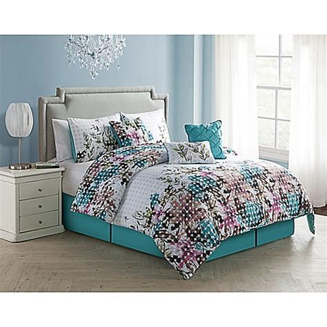 blue california king comforter sets buy vcny floral dot 7 piece california king comforter set