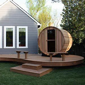 Outdoor Steam Room Kits - amazon com 4 person western red cedar 5 barrel wet sauna by almost heaven saunas indoor or