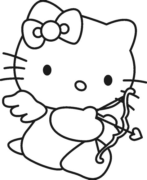 free hello kitty valentines day coloring pages cupid coloring pages best coloring pages for kids