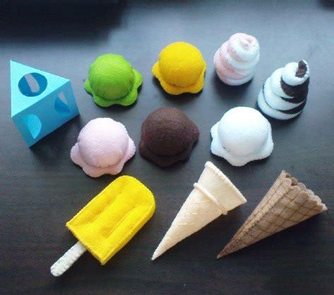 felt ice cream pattern set popsicle ice cream cones