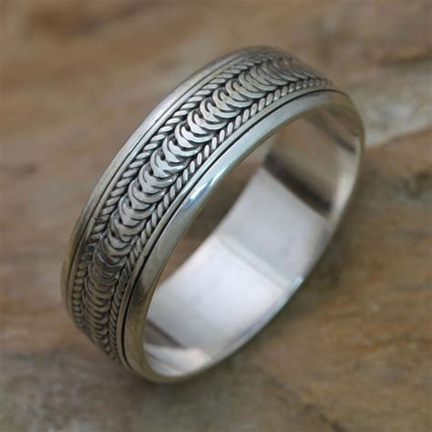 s sterling silver spinner ring infinity path the