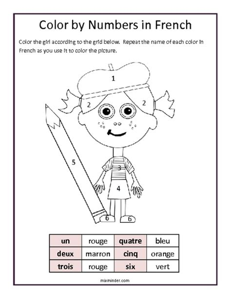 printable worksheets in french common worksheets 187 french colour worksheets preschool