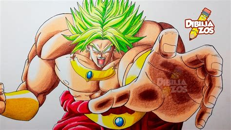 imagenes de goku legendario como dibujar a broly ssj legendario tutorial comentado