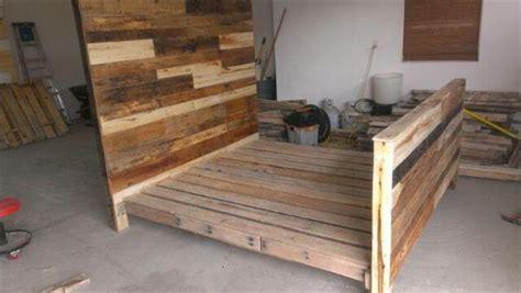 diy pallet bed with drawers diy pallet wood bed frame 101 pallets