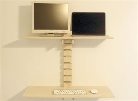 wall mounted standing desk dual monitor wall mounted standing desk gereghty desk co