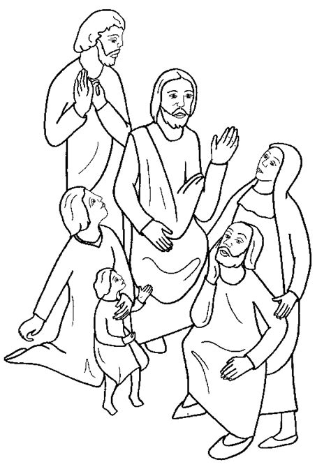 coloring page of jesus teaching beatitudes coloring pages
