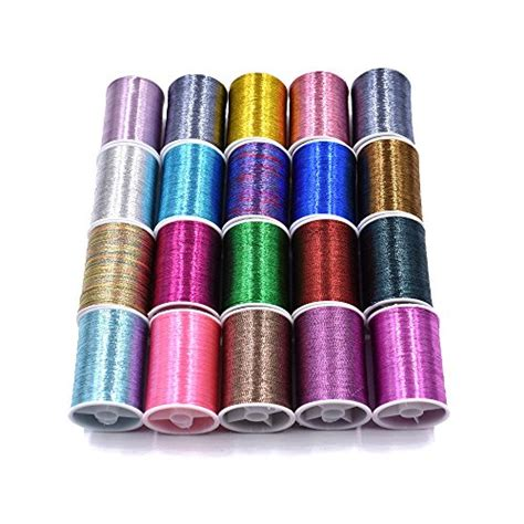 20 spools assorted colors flash tinsel thread fly tying materials top bargain fly fishing