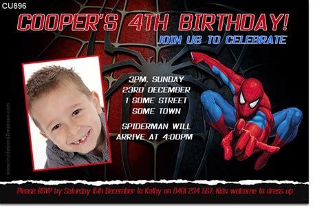 spiderman invitation templates
