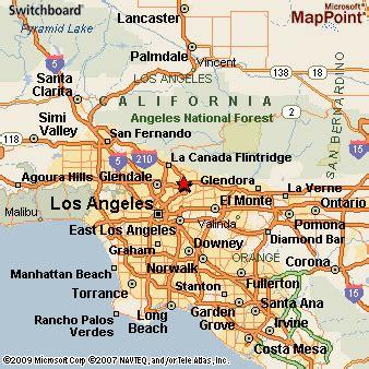 map of california pasadena pasadena california
