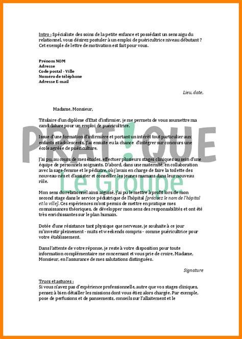 Lettre De Motivation Pour Un Emploi En Soins Infirmiere Exemple 11 Lettre De Motivation Cr 232 Che Lettre Officielle