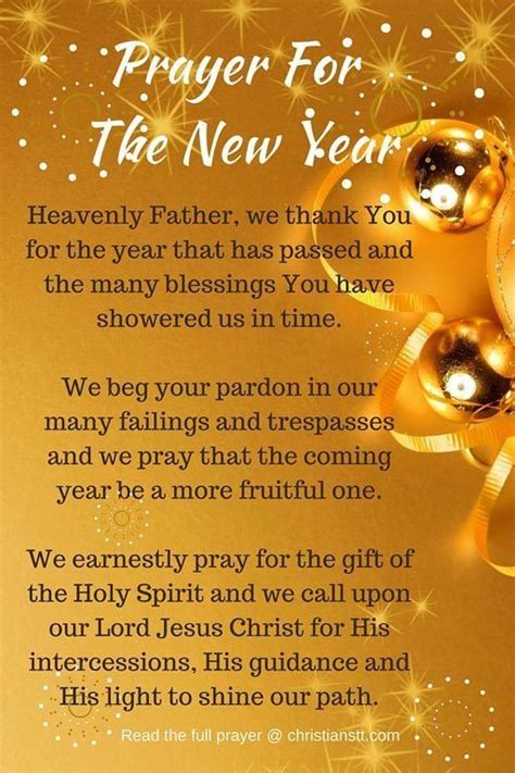 best new year message prayer prayer for the new year 2018 christianstt