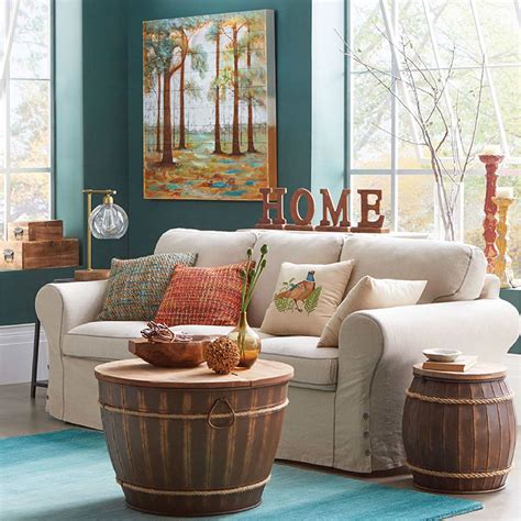 Decorating For fall living room decorating ideas