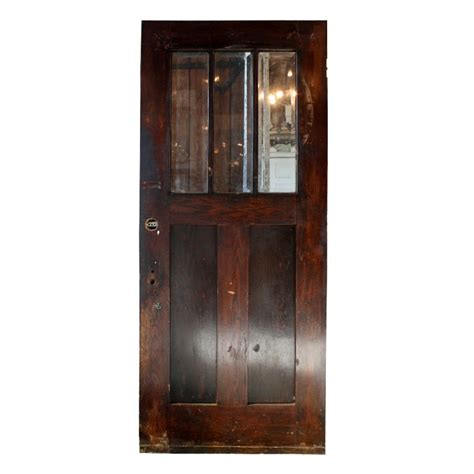 Salvaged Exterior Doors Gorgeous Antique 36 Salvaged Exterior Door With Beveled Glass Ned107 Rw For Sale Antiques