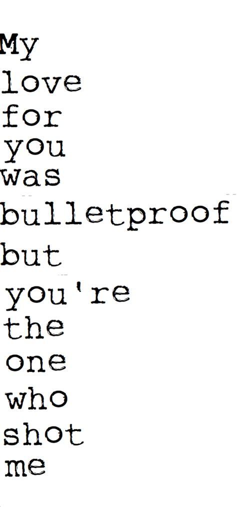 bullet for my lyrics in loving memory quote quotes lyrics the veil bulletproof lyric