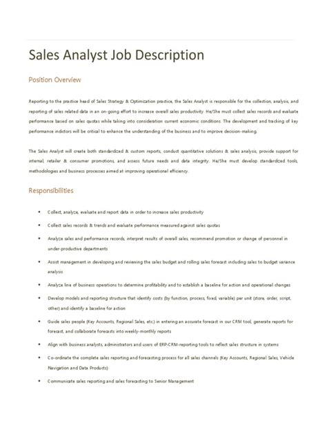 job description sections data analyst job purpose resume sections best resume