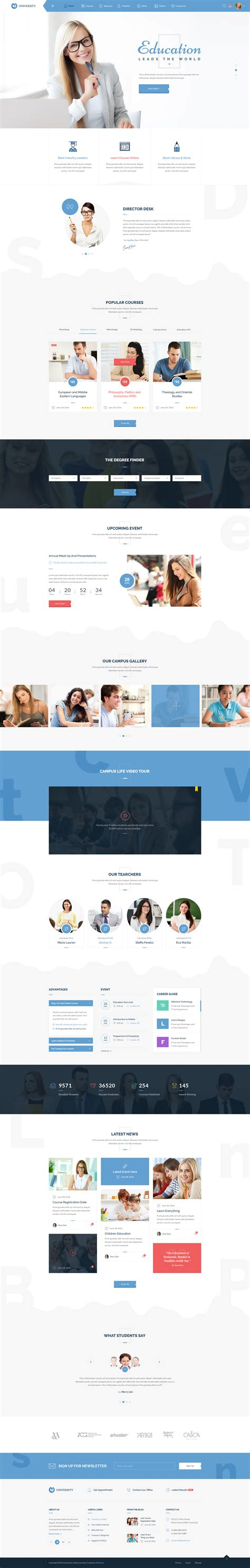 bootstrap templates for university university education smart learning bootstrap psd
