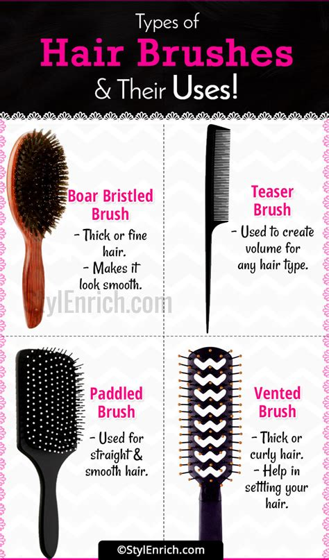 Hair Brush Types by Hair Brush Types A Complete Guide To Hair Brushes And