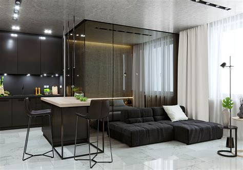 Apartment Interior Small Modern Glass 5 Studio Apartments With Inspiring Modern Decor Themes