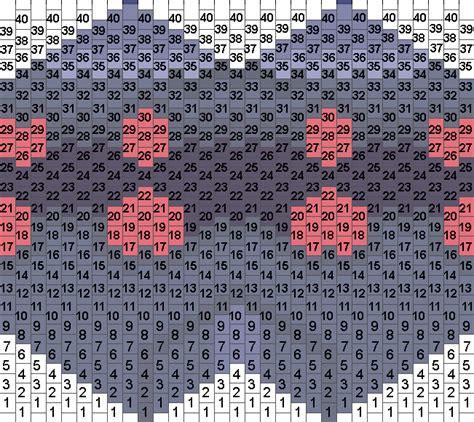 pattern unit evangelion unit 03 mask bead pattern peyote bead