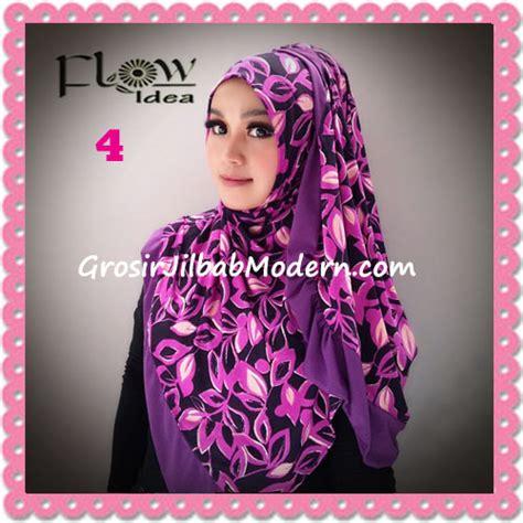 Jilbab Kerudung Anak Daun jilbab syria layer corak daun qory by flow idea no 4 ungu