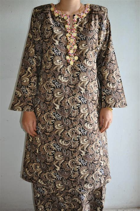 beads pattern for baju kurung armario aka closet baju kurung cotton with beads brown