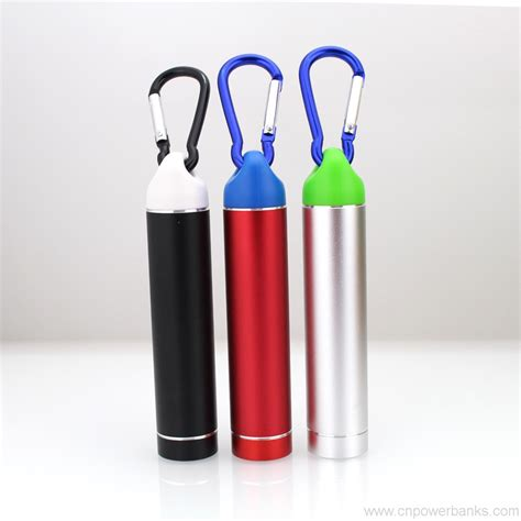 traveling battery charger carabiner hook power bank 2600mah outdoor traveling