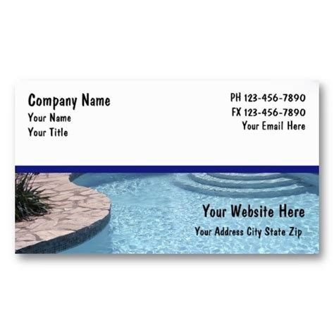 Swimming Pool Business Cards Templates