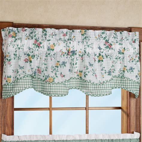 Scalloped Valance Pattern dreams scalloped valance tier window treatment