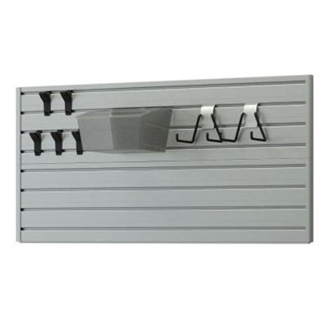 Slat Board Home Depot flow wall 3 in slat flow board sports set in silver clear