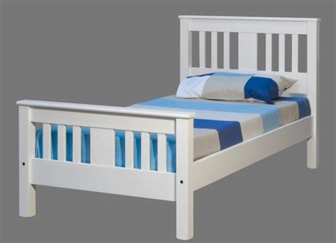 Wooden Bed Frames New Zealand Wentworth White Single Slat Bed Frame Contact Bed Shop