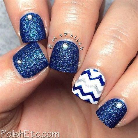 blue  white nails ideas  pinterest sparkly