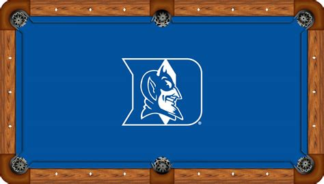 duke blue devils 9 pool table felt pool table cloth
