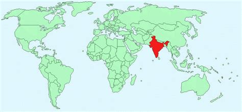 world map image india india facts and figures