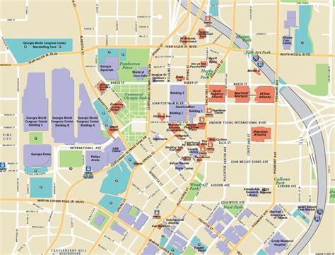 atlanta map of usa atlanta attractions map atlanta tourist attractions map
