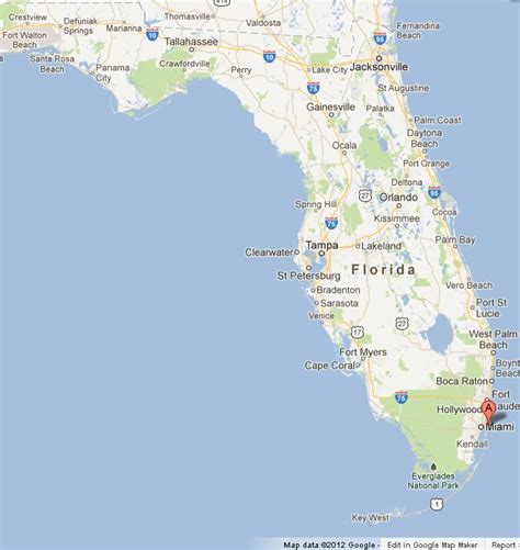 map of florida miami miami on map of florida world easy guides