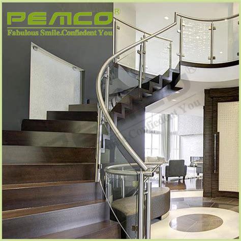 barandilla transparente dise 241 o moderno modelo de escalera de barandilla de acero