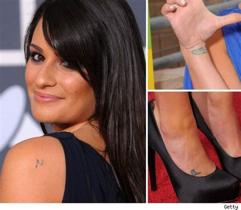 lea michele s tattoos glee all tatted up toofab