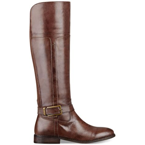 marc fisher boots marc fisher aysha wide calf boots in brown