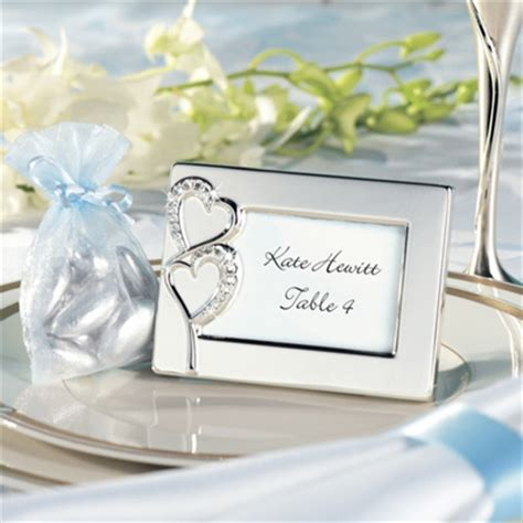 wedding placecard holders cheap wedding place cards twin hearts favor frame and place card holder with place card