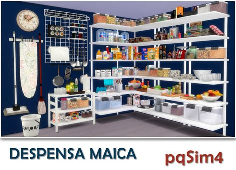Pantry Set by Sims 4 Pantry Set By Pqsim4