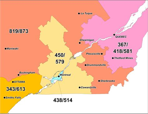 canadian map of area codes ontario canada area code gallery