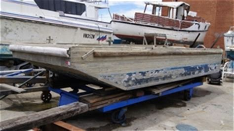 punt boat for sale nsw aluminium punt flat bottom square front side and rear