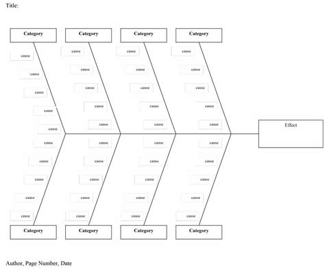 43 Great Fishbone Diagram Templates Exles Word Excel Fishbone Template Free
