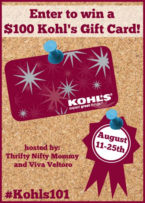 Kohl S Giveaway - kohl s back to school 100 gift card giveaway our piece of earth