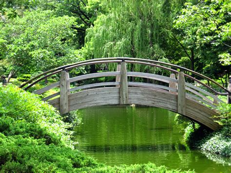 garden bridges moon bridge wallpaper